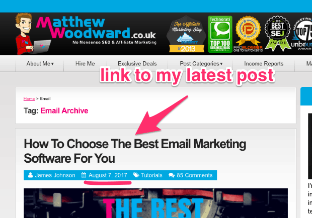 Email Archives Matthew Woodward