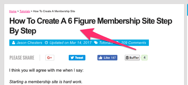 How To Create A 6 Figure Membership Site Step By Step 1
