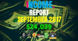 Monthly Income, Growth & Traffic Report – September 2017