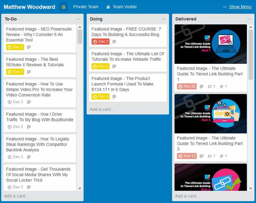 trello graphics boards