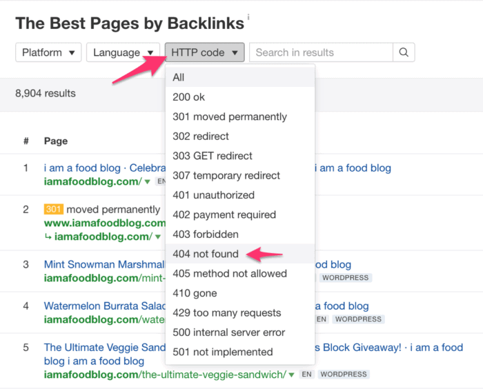 ahrefs best pages