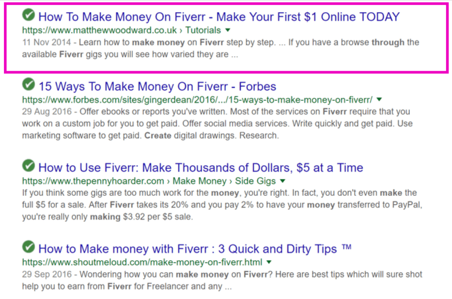 fiverr google search results