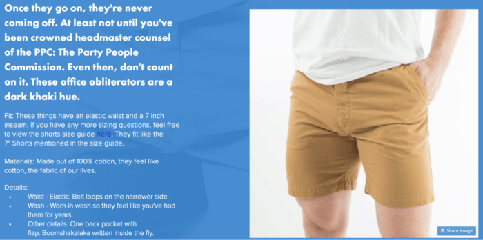 chubbies value proposition