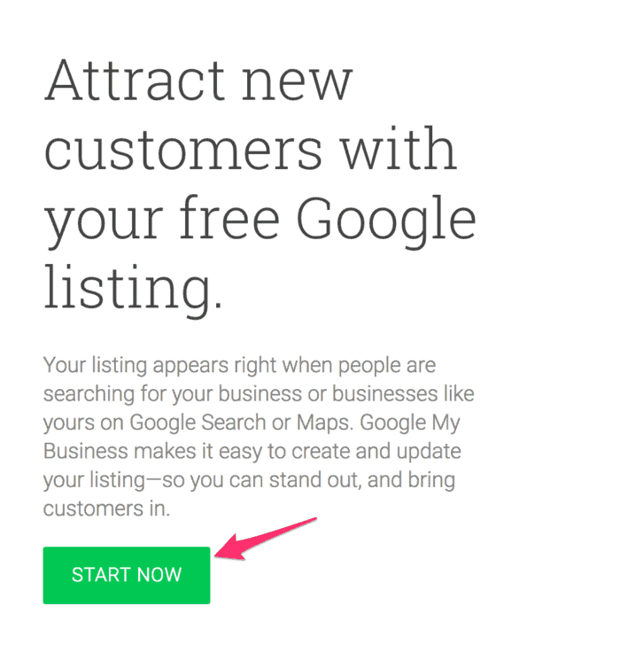 start now with Google