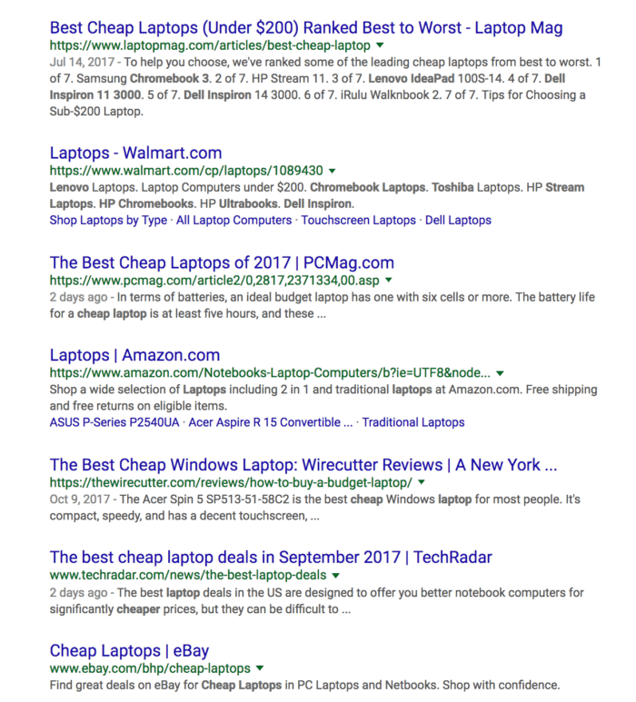 cheap laptops search results