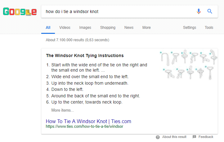 windsor knot search results