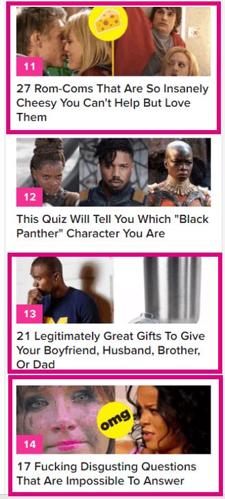 buzzfeed's shared content