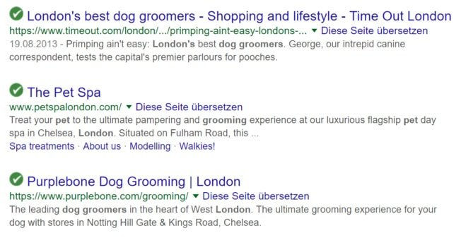 search results for dog grooming example