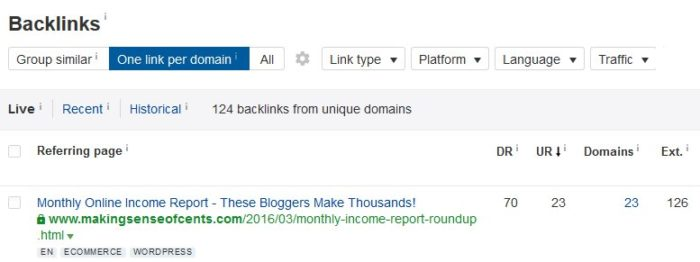 roundup link building strategy example