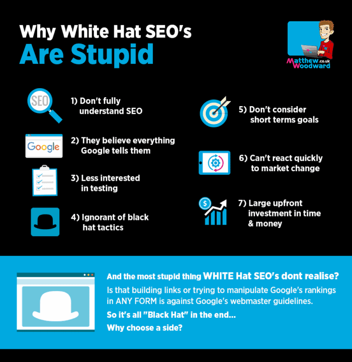 Why White Hat SEO's Are Stupid