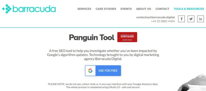 panguin tool access page