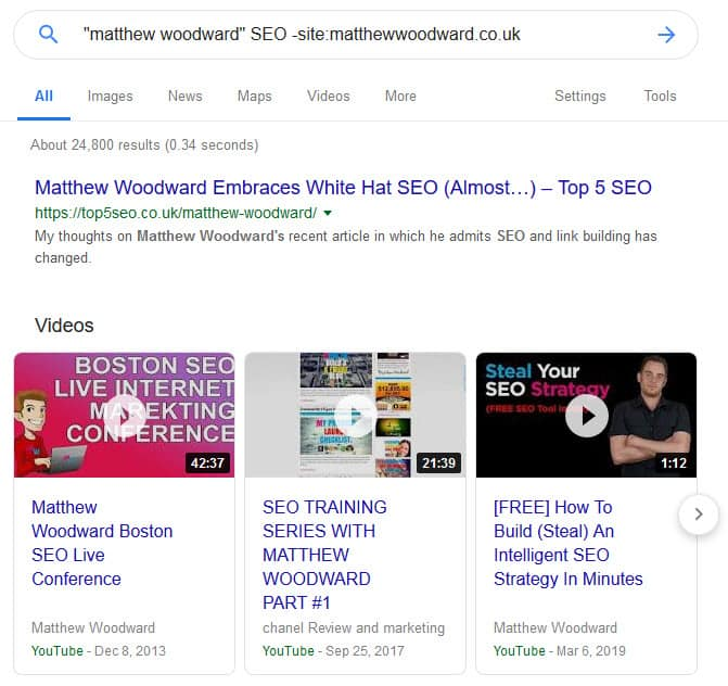 branded mentions search example