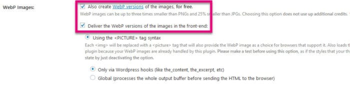 how to enable webp images