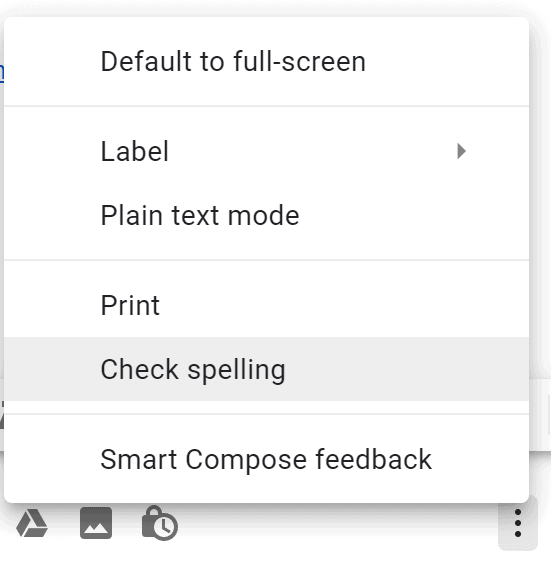 Advanced Gmail spell checker