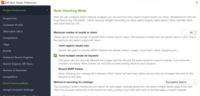 rank checking mode