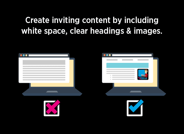 white space clear headings
