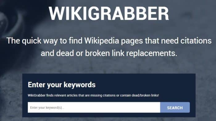 wikigrabber homepage