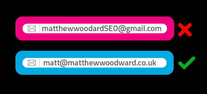 branded email address