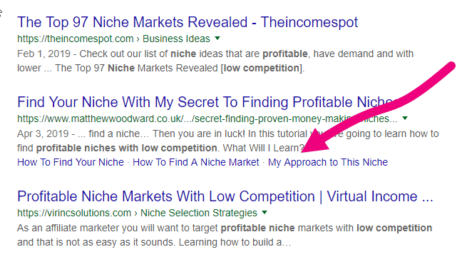 Google showing table of contents as links in the search results