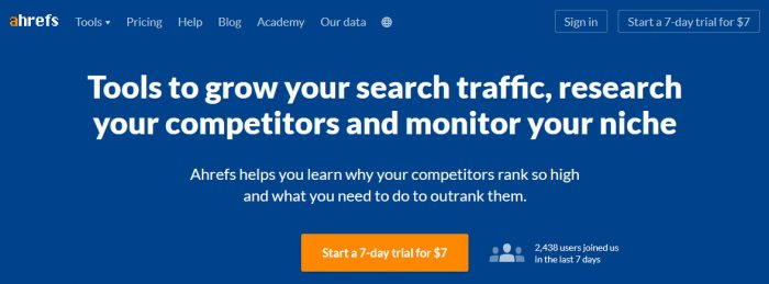 ahrefs is the best backlink checker