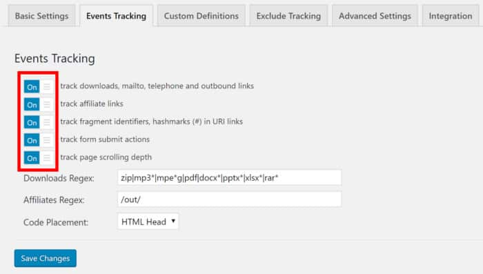 Google Analytics Events Tracking 2