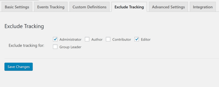 Google Analytics Exclude Tracking
