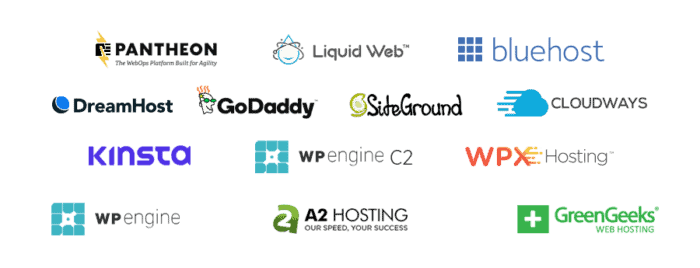 Best WordPress Hosting Logos