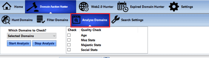 Analyze Domains