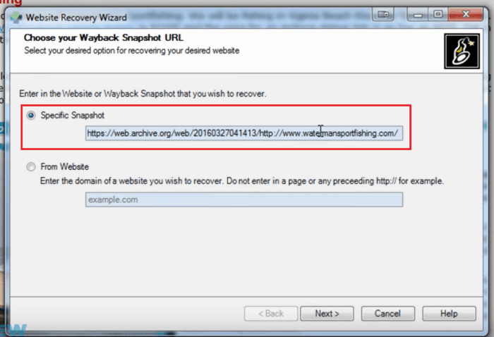 DomRecovery setting