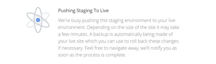 Push staging Live