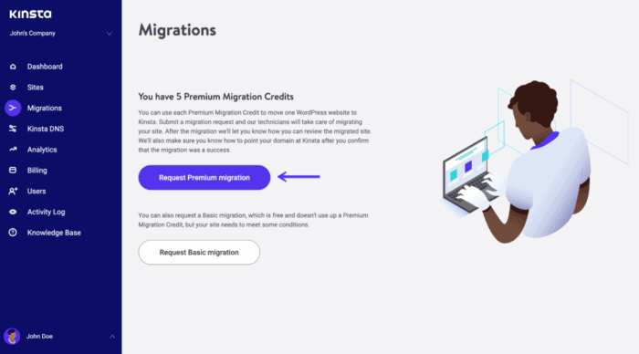 migration request form