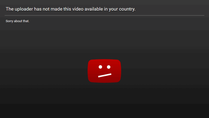 Video unavailable in the country