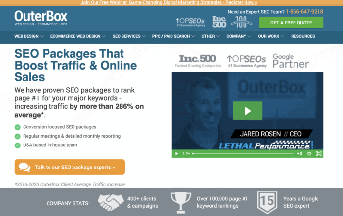 Outer box seo packages