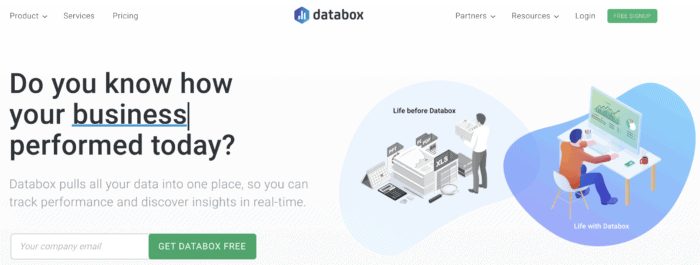 databox seo reporting software