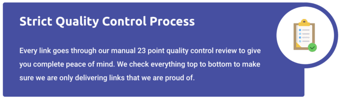 links that rank quality control process