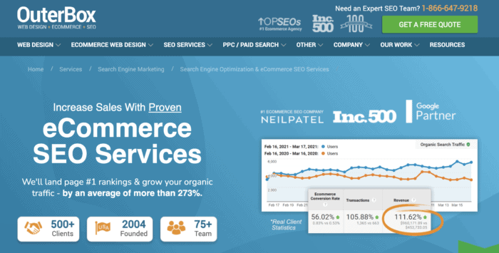 outbox ecommerce seo services