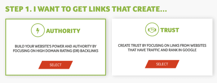 trust links or authority links