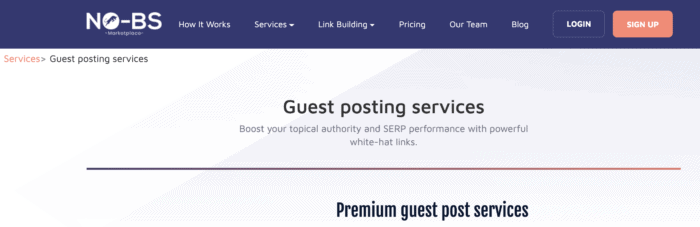 no bs guest posts page